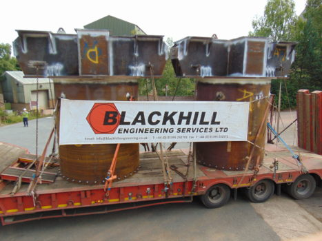 Two Pile Caps for Hinkley Point C temporary jetty - a total of 30 were manufactured by Blackhill Engineering for this structure