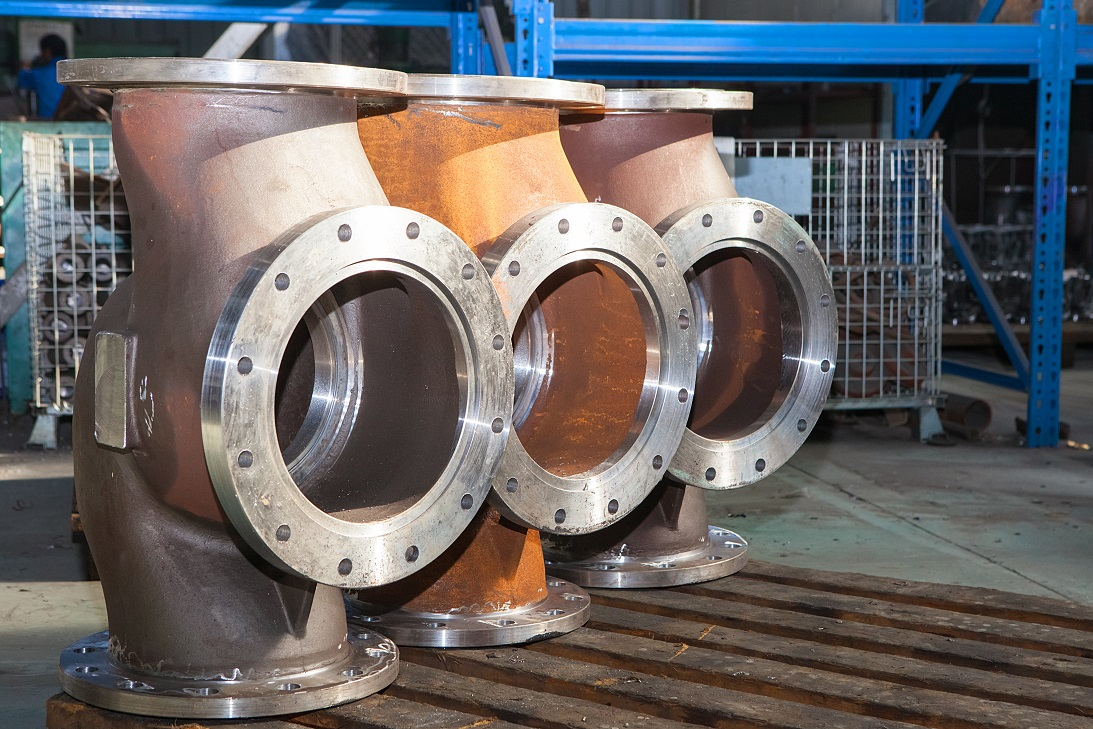 Valve for oil and gas pipeline. An example of our capabilities in heavy fabrication and large scale machining